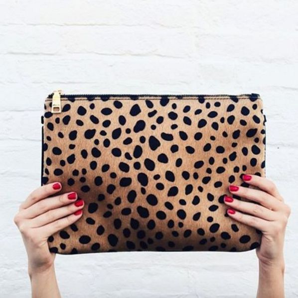 BACK AT IT AGAIN WITH THE LEOPARD CLUTCH!!!!!
