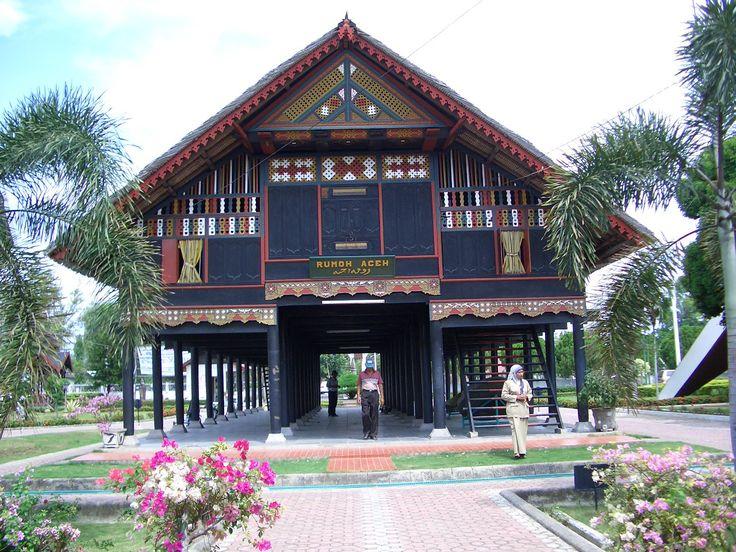 Rumah Aceh di Museum Kota, Banda Aceh, Indonesia