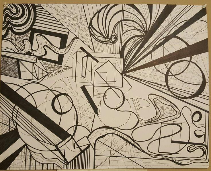 Lines study (Pen & Marker)