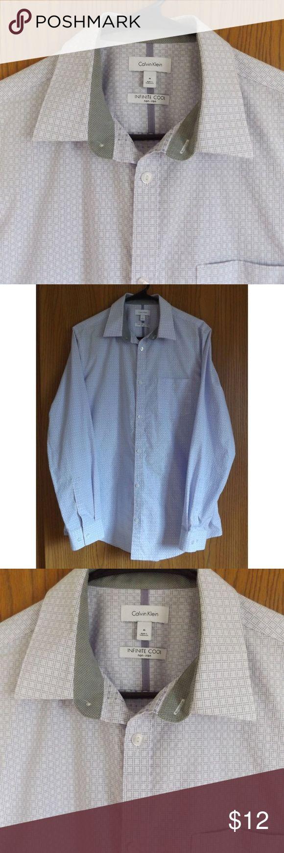 Calvin Klein Men's Infinite Cool Non Iron Shirt Calvin Klein Men's Infinite Cool Non Iron Shirt Size Medium Calvin Klein Shirts Dress Shirts