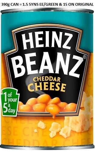 Heinz Beans Cheddar Cheese Syns