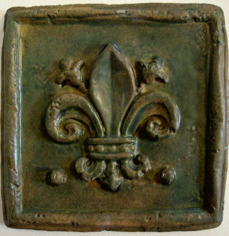 Fleur de lis ~ Medieval art tile--what a wonderful piece