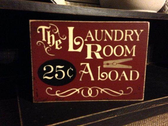 Primitive Laundry Room Sign, Laundry Room Decor on Etsy, $14.99