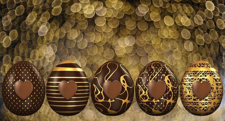 Wielkanoc, Czekoladowe, Pisanki, Tło