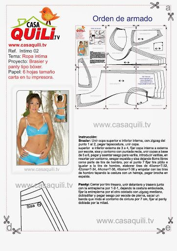 Quili ropa intima brasier y panty tipo boxer - Mary N - Álbumes web de Picasa