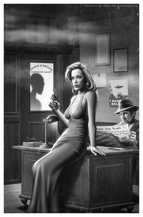 X-Files noir by Carlos Valenzuela probably already pinned this but...
