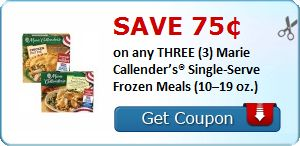 Save 75¢ on any THREE (3) Marie Callender's® Single-Serve Frozen Meals (10–19 oz.) : #CouponAlert, #Coupons, #Printablecoupons Check it out here!!