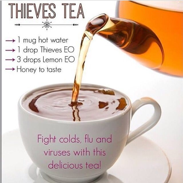 Young Living Essential Oils: Thieves Tea for Cold Congestion Cough Fever Flu