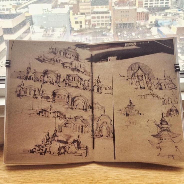 #zine #bookbinding #sketches #brushpen #drawings #architecture #zuorzu #newyorkcity by zuorzu