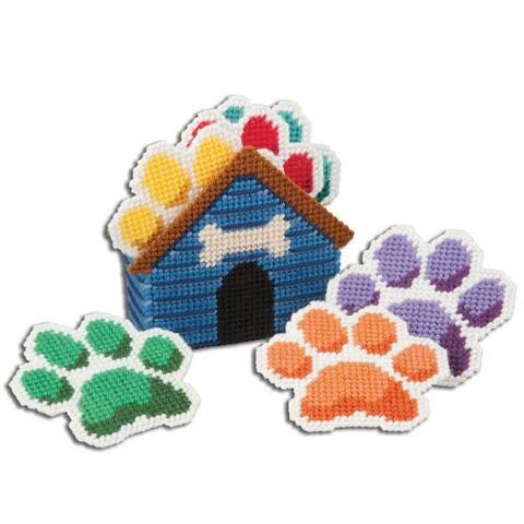 Craftways® Puppy Paws Coasters with Holder Plastic Canvas Kit Was: $16.00                     Now: $12.99