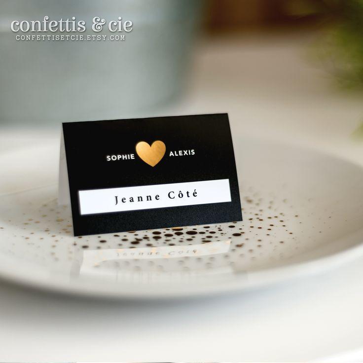 Marque place pour mariage - À imprimer soi-même - Disponible dans la boutique Etsy