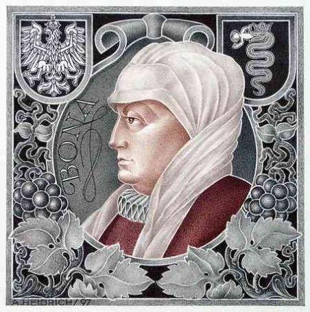 Bona Sforza 2.wife of Sigismund I.Old Jagiellon