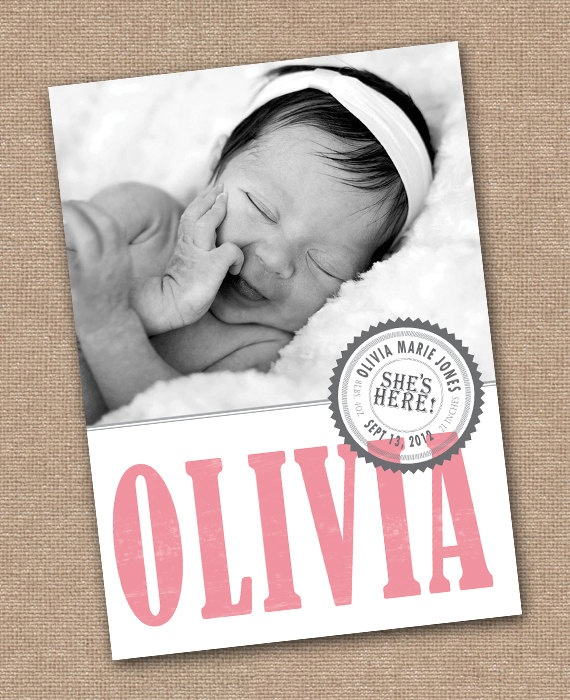 144 best Baby announcement images – Baby Announcement Cards Etsy