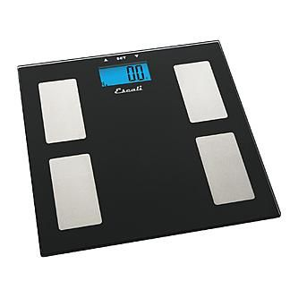 Escali Glass Body Fat, Water, Muscle Mass Scale, 400 Lb / 180 Kg