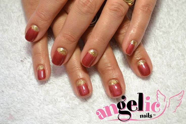 Classic French with a Golden Twist #nails #nailart #Christmas