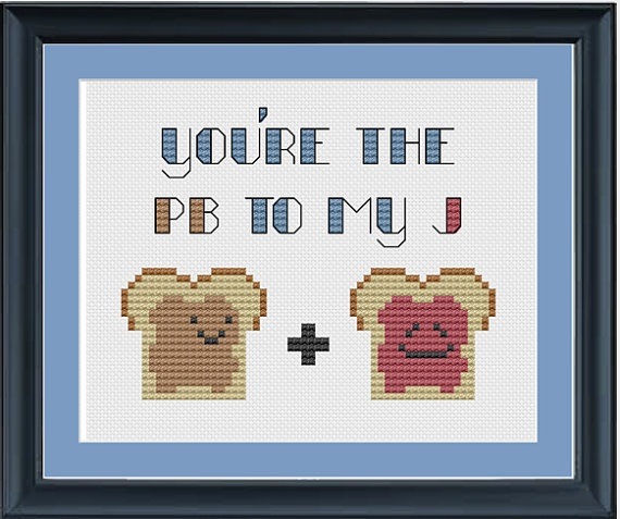"""What my hubby's nephew said to us when I first met him - """"Ya'll go together like peanut butter and jelly."""" :-)"""