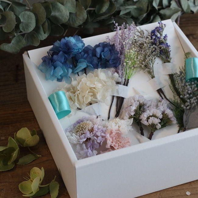 結婚式のヘッドドレス ご希望の色合いとお花のドライフラワーやプリザーブドーフラワーで 作らせていただきました。
