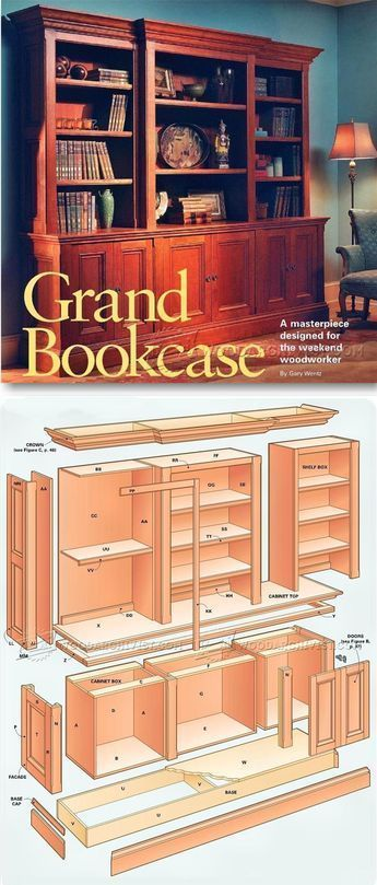 Grand Bookcase Plans - Furniture Plans and Projects | WoodArchivist.com