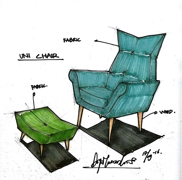 Brainstorming concept for lounge chair