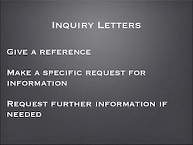 ESL: What You Need to Write a Letter of Inquiry