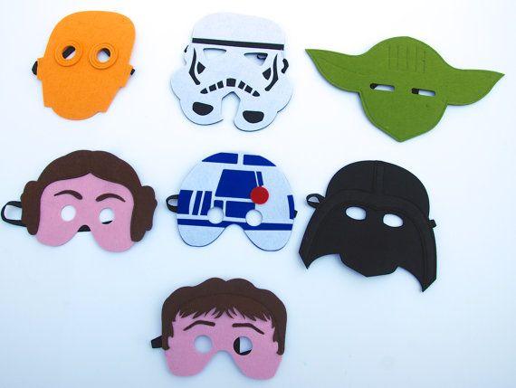 Easter Basket Filler Last Minute Easter Shop Ultimate set Star Wars Felt Mask set by MelissasStitches, $53.00
