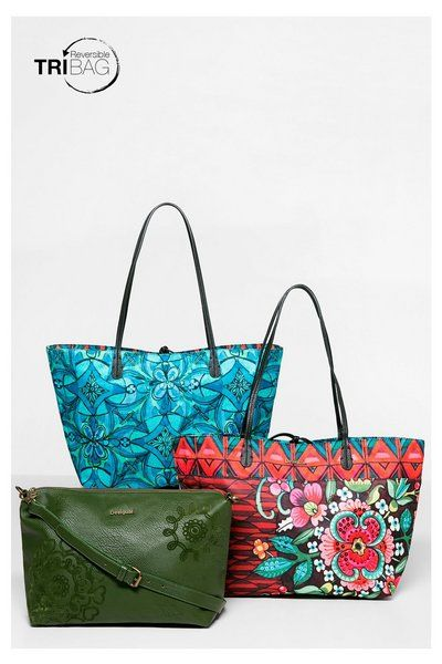 Reversible shopper bag Desigual. Discover the fall-winter 2016 collection!