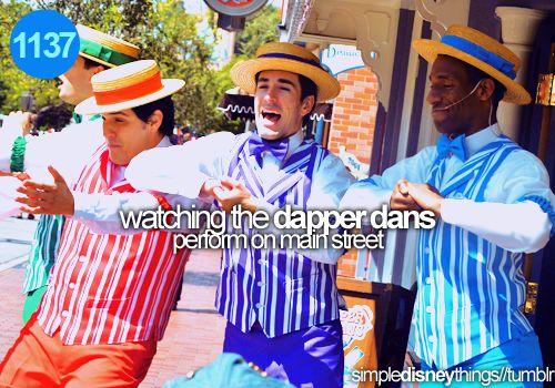 The Dapper Dans at Disneyland - love 'em!