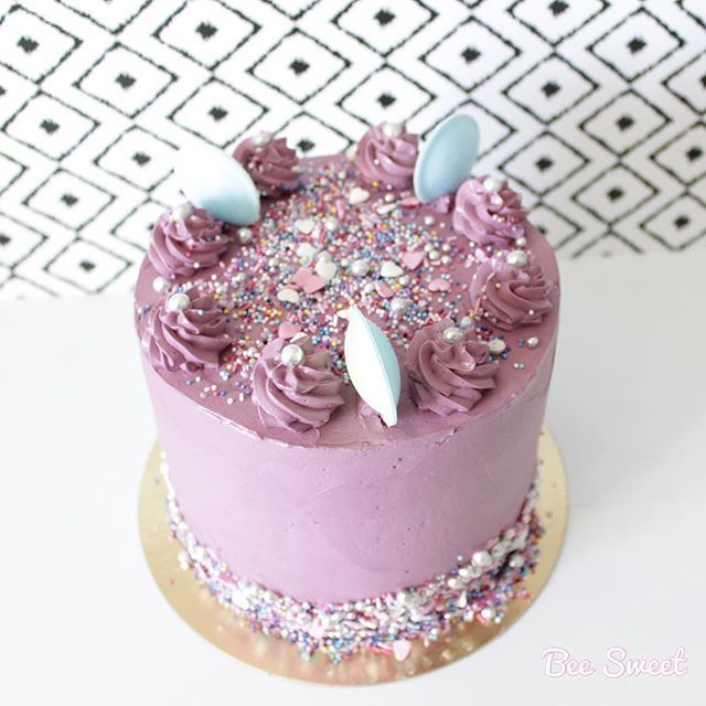 Violet Birthday Cake