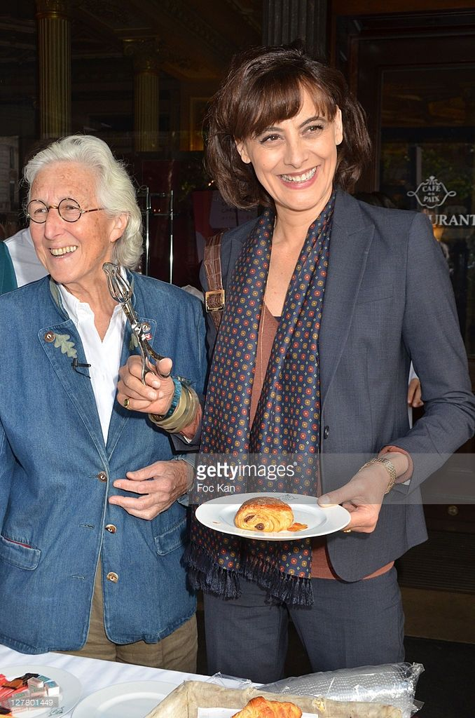 Doctor Francine Leca from Mecenat Chirurgie Cardiaque and Ines de La Fressange attend the Ines De La Fressange Auction Breakfast in Profit of Mecenat Chirurgie Cardiaque at Cafe de La Paix on May 24, 2011 in Paris, France.