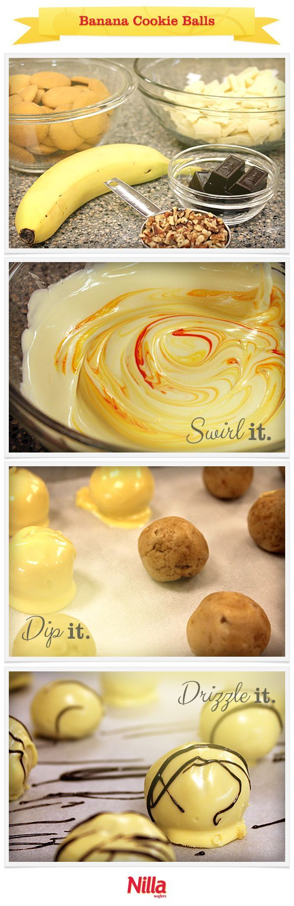 Nanner balls!  I add a little sugar and vanilla to the mix and they're great!