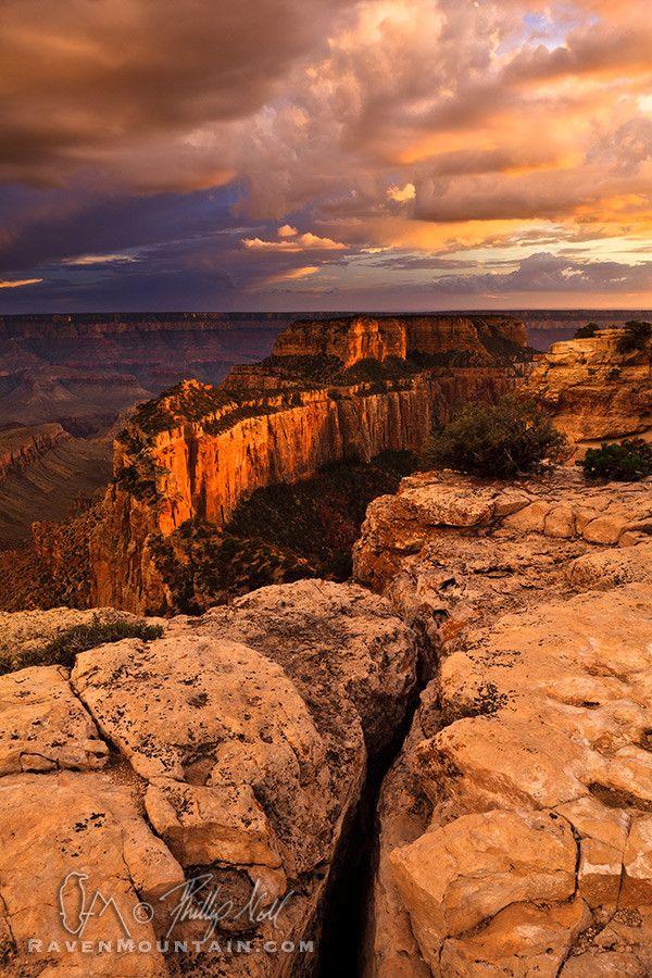 Peachy Sunset - Cape Royal, Grand Canyon National Park, Arizona