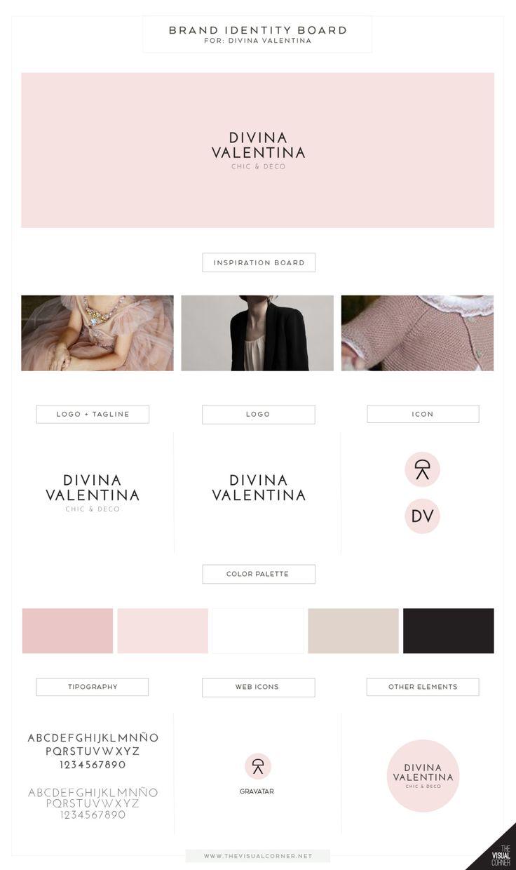 Brand identity for Divina Valentina boutique by The Visual Corner studio #branding #logo #pink #brandIdentity