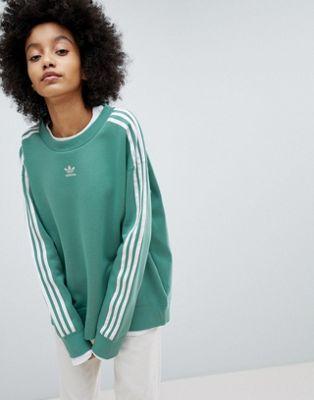 Adicolor Adidas Bandes Originals Shirt Vert Sweat Trois En À SzMpGqVU