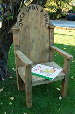 story time chair--you can buy one for $225 but I am sure you can figure out how to make one, I know I will.