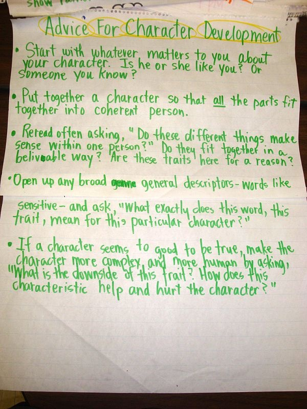 Character development essay