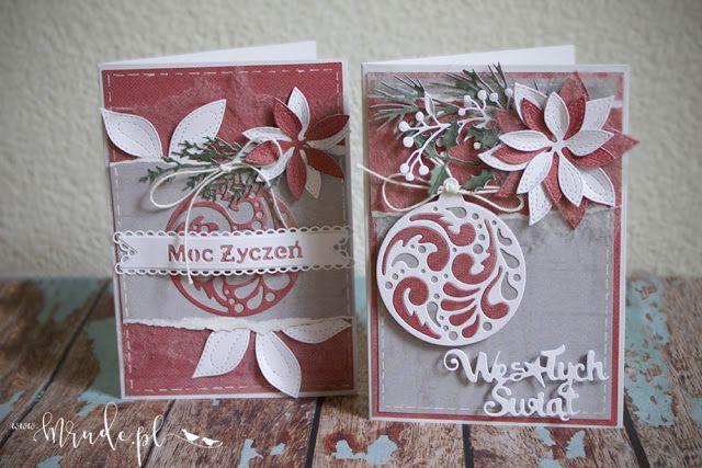 Ręcznie robiona kartka świąteczna www.mrude.pl