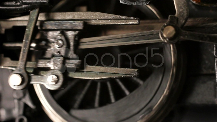 HD - $55 - Miniature steam locomotive driving wheels start turning accelerate and stop - Stock Footage | by Elmwood