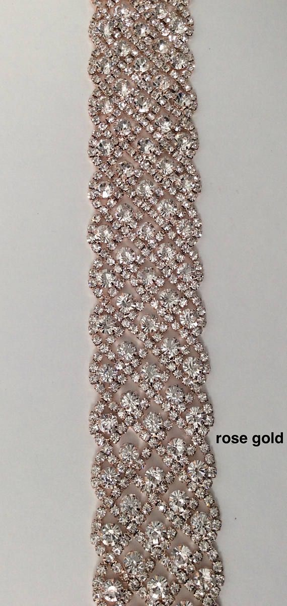 Hey, I found this really awesome Etsy listing at https://www.etsy.com/listing/518146770/rose-gold-rhinestone-trim-crystal-trim