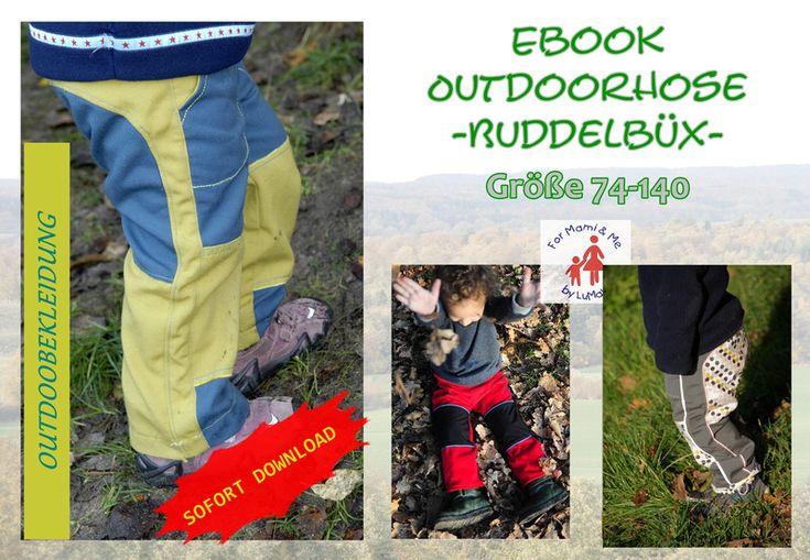 Nähanleitungen Kind - Ebook Outdoorhose Buddelbüx Hose - ein Designerstück von For-Mami-and-Me-by-LuMaLi bei DaWanda