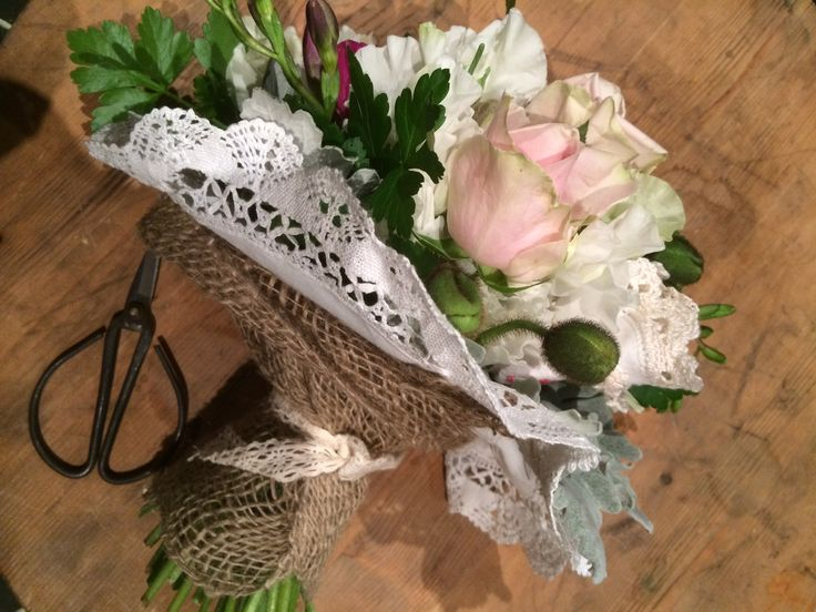 Vintage posy made in class at bloom College