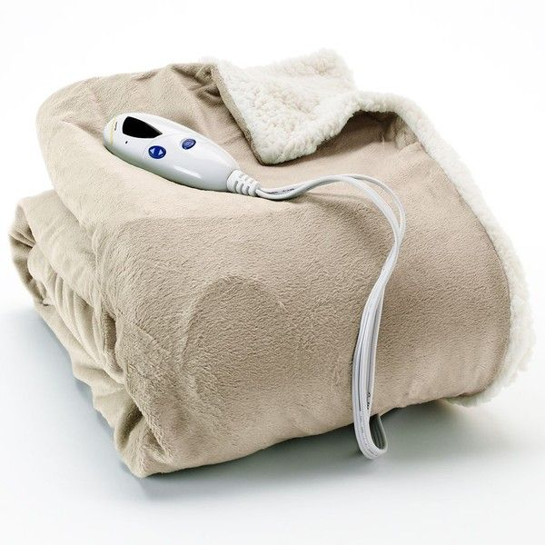 Biddeford Sherpa Electric Heated Throw, Brown (Taupe), unisex ($120) ❤ liked on Polyvore featuring home, bed & bath, bedding, blankets, brown, biddeford heated blanket, sherpa electric throw, biddeford electric blanket, electric throw and electric throw blanket