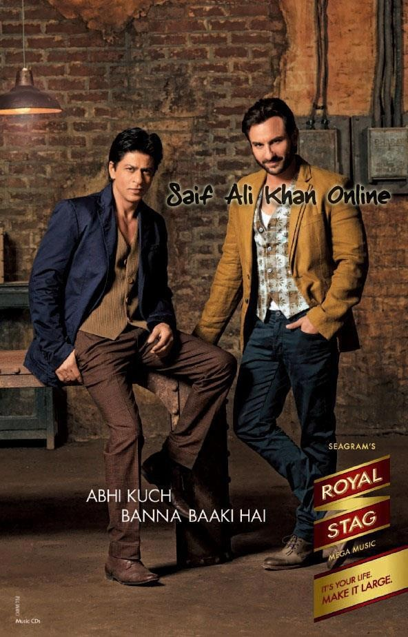 Saif Ali Khan and Shahrukh Khan