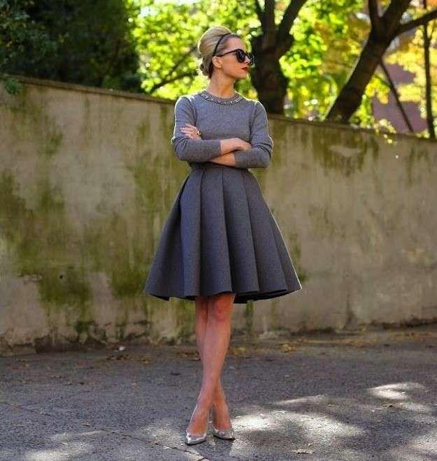 Faldas años 50: Fotos de los modelos - Look gris