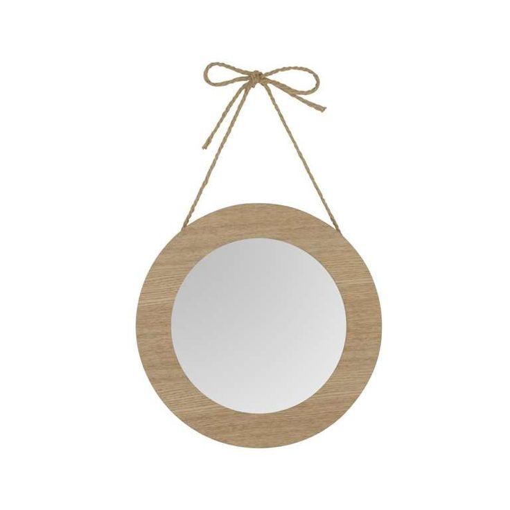 petit miroir rond avec cadre beige miroirs pinterest petits miroirs miroir rond et miroirs. Black Bedroom Furniture Sets. Home Design Ideas