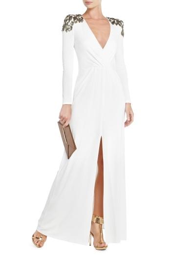 Anna Sequin-Shoulder Evening Gown, $400. BCBG.