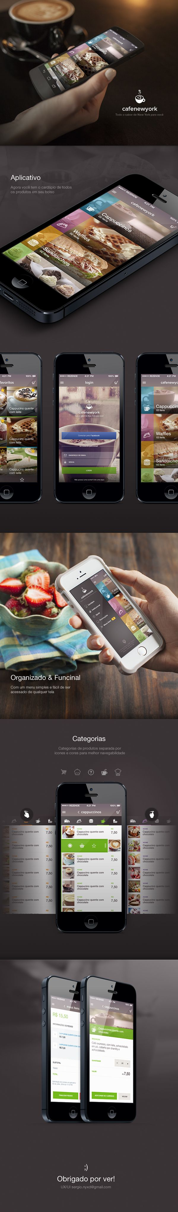 Cafe New Yokr - APP by Sergio Vieira, via Behance
