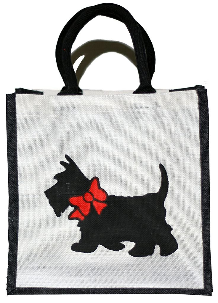 Our #terrier themed #hessian #bag.
