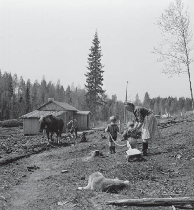 A typical small rural North Karelian Farm of the 1920's