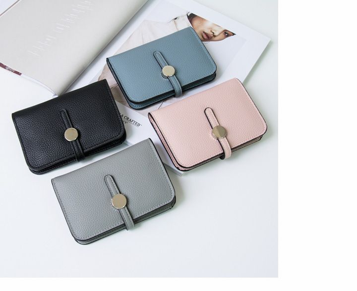 シンプルミニウォレット 財布 ウォレット 二つ折り コンパクト パステル シンプル ミニ ミニ財布 レディース