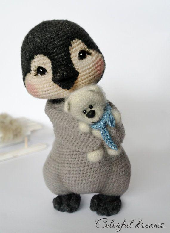Crochet pattern Penguin girl Lina by HMColorfuldreams on Etsy. - Awwwww! So Sweet! A